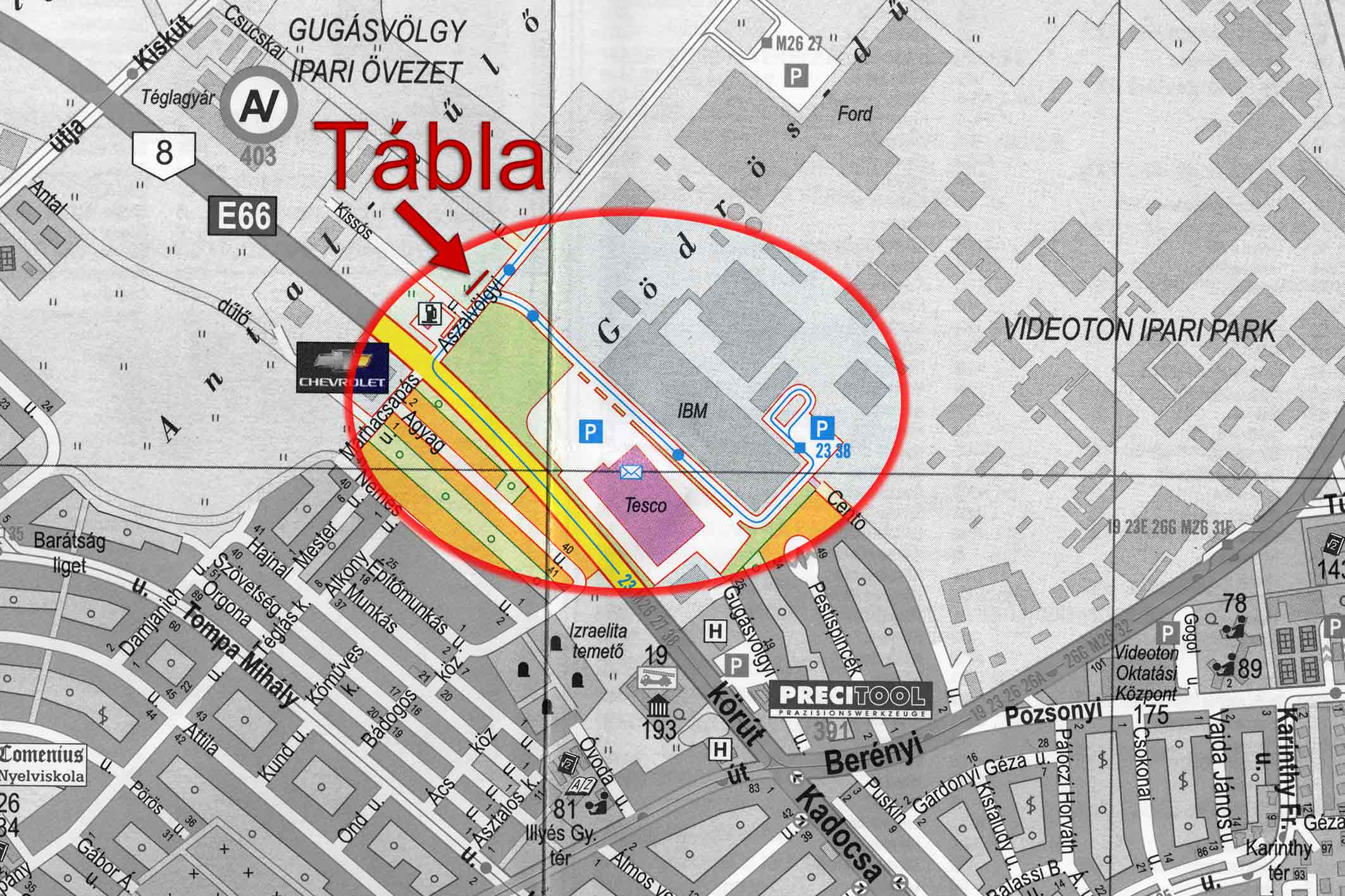 tesco térkép Aszalvölgyi út (Tesco parkoló) tesco térkép
